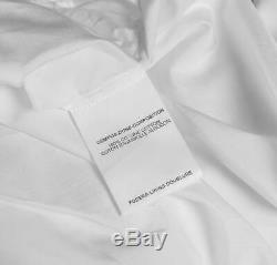 YVES SAINT LAURENT Womens White Cotton Long Sleeve Top Shirt Blouse FR36 US4
