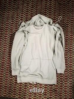 Y/PROJECT Double Layer Long Sleeve Cotton Hoodie in Grey Size M top Condition