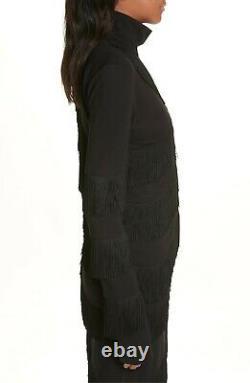 Y/PROJECT Fringe Tassel Stretch Jersey Turtleneck Sweater Top WTS9S15 MSRP$1260