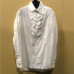 Yohji Yamamoto Men's Tops Long-Sleeved Shirt Ruffle Size 3