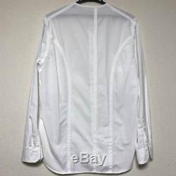 Yohji Yamamoto POUR HOMME 15SS Men's Tops No Collar Long-Sleeved Shirt Size 2