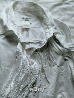 Yohji Yamamoto POUR HOMME 2000SS Fringe Long-Sleeved Shirt Men's Tops Size 2