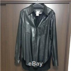 Yohji Yamamoto POUR HOMME Leather Men's Tops Long-Sleeved Shirt Size M