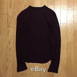 Yohji Yamamoto POUR HOMME Long-Sleeved T-Shirt Tee Bordeaux Men's Tops Size M