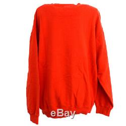 Yves Saint Laurent Round Neck Long Sleeve Tops Sweatshirt Red Italy AK38459c
