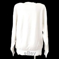 Yves Saint Laurent Round Neck Long Sleeve Tops Sweatshirt White #M GS02671