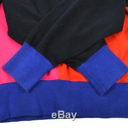 Yves Saint Laurent Vintage Long Sleeve Tops Black Red #M Authentic AK31389d