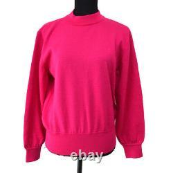 Yves Saint Laurent Vintage Long Sleeve Tops Pink #M Wool Authentic AK31399d