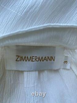 ZIMMERMANN White Silk Blouse Top Size 3