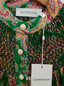Zimmermann Teddy Smocked Top Sz 2